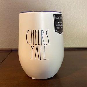 Rae Dunn Wine Tumbler CHEERS Y'ALL